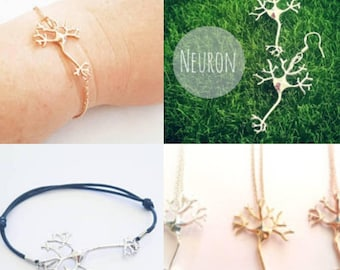 Neuron Jewelry Keychain Necklace Bracelet Anklet Earrings Badge Pin Charm Magnet Bookmark Chemistry Biology Neuroscience Psychology Science