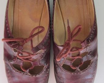 Vintage GB Oxblood Leather Oxfords W's