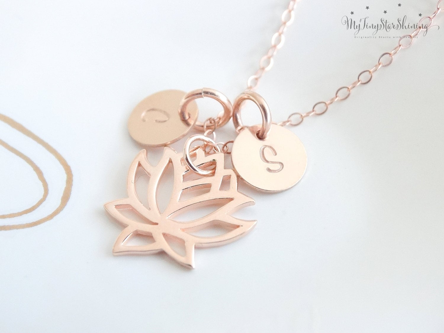 this listing yoga necklace pendant flower gold item blooming like il lotus