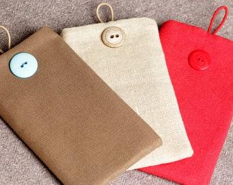 Handmade fabric smart phone case / Handgemacht Stoff Handytasche / Cas de téléphone portable textile
