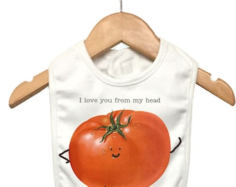 I Love You Tomatoes | Bibs | Gifts under 10