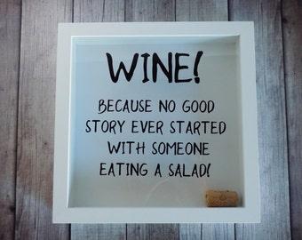 Wine Lovers Gift, Wine cork holder, memory box, wine lover, shadow box, wedding gift, gift for wine lover, cork holder, KW05