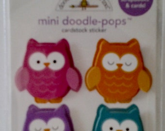 "Mini Doodle-Pops ""who's hoo"" Cardstock Stickers"