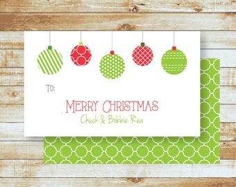 Personalized Holiday Gift Tags / Christmas Ornaments