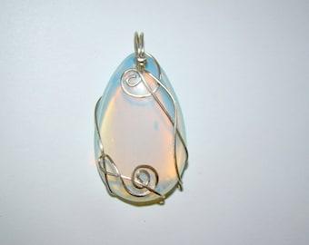 Teardrop necklace silver, rainbow moonstone necklace, silver necklace teardrop charm Necklace