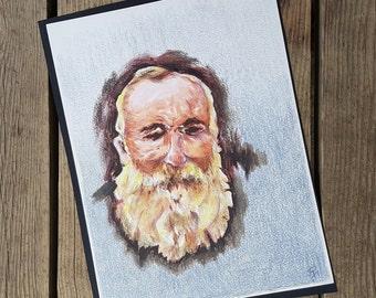 """""""Self-portrait of Claude Monet"""" Robert Fertier vintage design"""