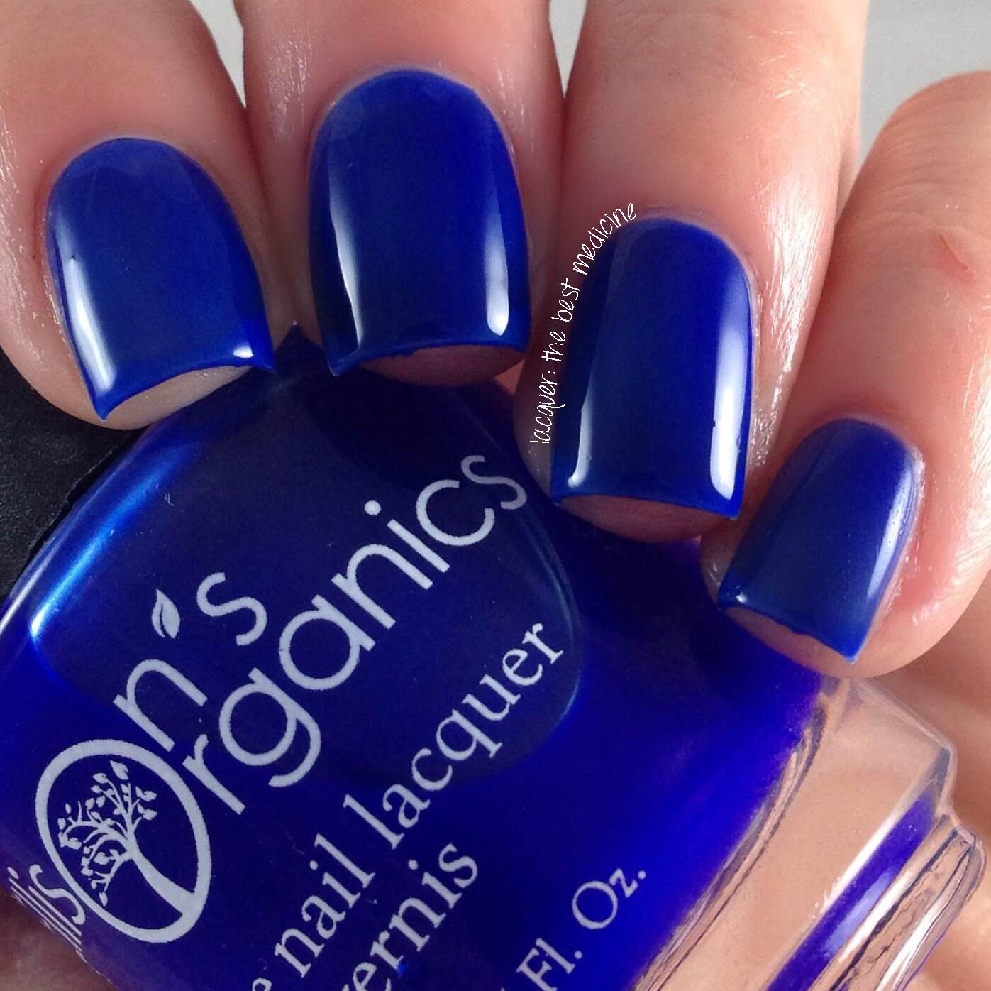 Blue Nail Polish - Blue Crelly Nail Polish - Nail Art - Vegan Nail ...