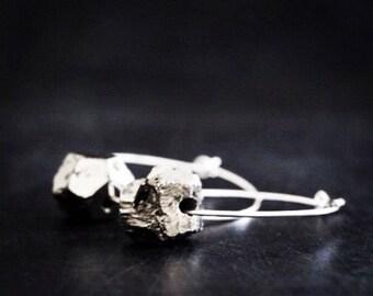 Pyrite Hoop Earrings / Sterling Silver Hoops