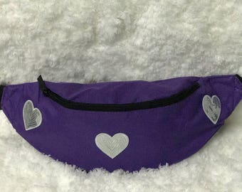 Purple Hearts Fanny Pack