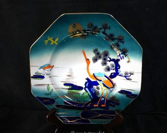 A gorgeous and very rare Scottish e.p.c, hand painted, cabinet plate