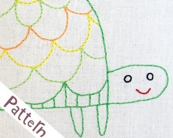 T Turtle INSTANT DOWNLOAD PDF embroidery pattern