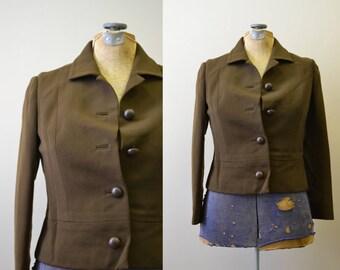 1960s Max Mozes Brown Wool Jacket