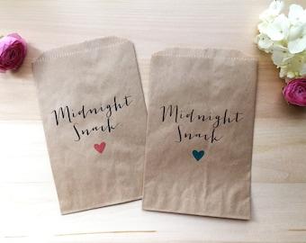 Custom Wedding Favor Bag / Candy Buffet Bags / Wedding Candy Bags / Wedding Favors / Favor / Treat Bags / Custom Favor Bags / Midnight Snack