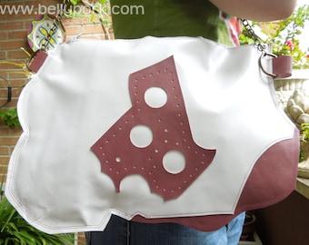 LEATHER bag, abstract bag, white bag, leather tote, leather white bag, leather purse, abstract purse, genuine leather bag, lined bag