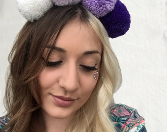 Purple Spectrum - Pompom Headband