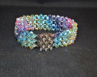 Swarovski crystal bracelet clasp multicolored Swarovski