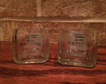 Patron Tequila 50ml Bottle Shot Glasses - Set of 2