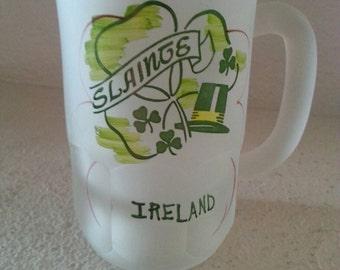 Frosted Slainte Ireland Beer Mug