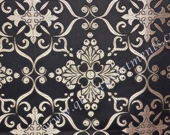 CLEARANCE!! 3.2m Piece Liturgical Vestment Metallic Brocade Black Silver Ornate