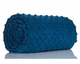 Half a metre coupon 50 minky fabric x 160 cm, Navy blue velvet fabric / plush