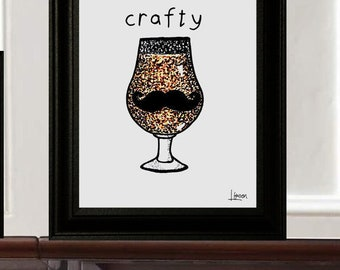 "Beer Print ""Crafty"""
