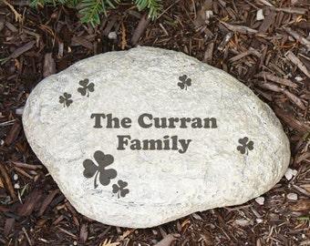 Engraved Irish Family Garden Stone, garden decor, custom, home decor, st. patrick's day decor, irish decor, st. patrick's day -gfyL551814