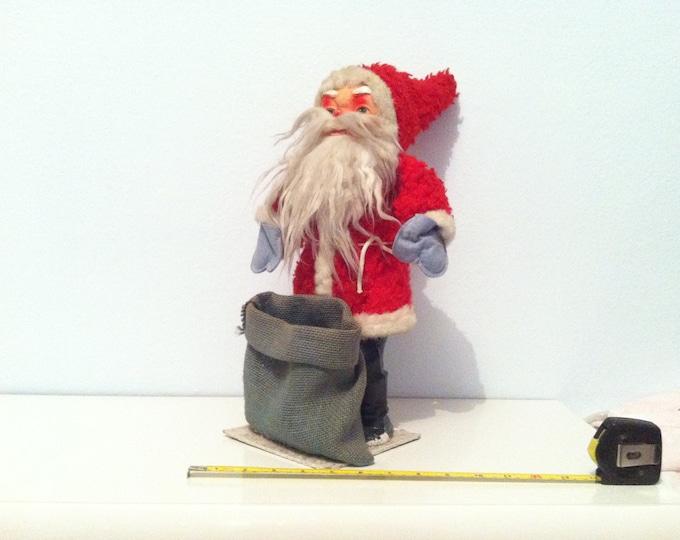 Vintage German Santa Claus christmas dekoration hand working