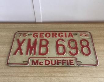 Vintage 1976 Georgia Automobile License Plate