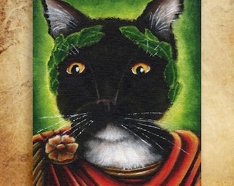 Julius Caesar Cat Shakespeare Literary Cats 8x10 Fine Art Print