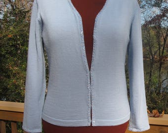 Briana B Italian Wool Beaded Cardigan