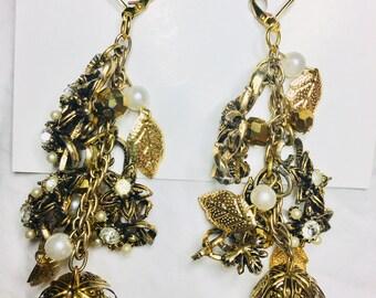 Gold Vines Earrings