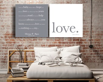 Wedding anniversary song Lyrics to canvas Bride and Groom gift Wedding gift 50th anniversary gifts song art first dance song Personalized
