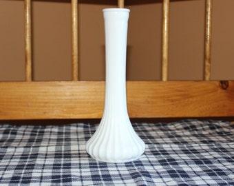Vintage Milk Glass Single Stem Vase