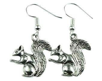 TFB - SQUIRREL Dangle Earrings - Complete with gift box