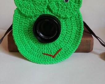 Crochet Lens Buddy, Lens Buddy, Camera Cover, Frog Lens Buddy, Frog Camera Cover, Photographer Equipment