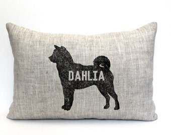 "dog pillow, personalized pillow, dog name pillow, dog breed pillow, pet gift, mother's day gift ""The Dahlia"""