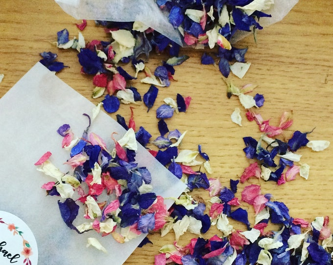 Featured listing image: Spring Blossom Petal Confetti Personalised pack of 5