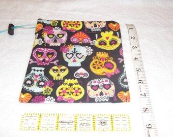 Cute Skulls Handmade Drawstring Bag