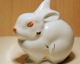 Vintage ceramic rabbit figurine