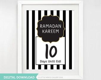 Printable Ramadan/Eid Countdown Calendar (Boutique), Digital Download