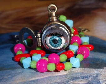 The eye of the depths (short necklace)
