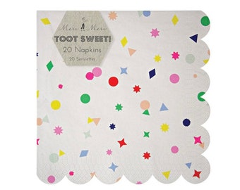 Toot Sweet Charms Paper Party Napkins   Meri Meri   Geometric Party Decor   Geometric Paper Napkins
