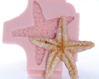 Large Starfish Flexible Silicone Mold Mould Easy to use for Fondant Chocolate Candy Gumpaste Food Safe Resin Soap Wax Polymer Clays   (836)