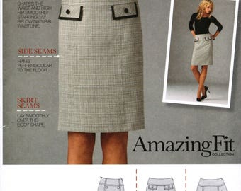 SIMPLICITY 2475 sewing pattern. Misses skirt pattern.  Size 16-18-20-22-24  New.  Uncut.  Factory folded.