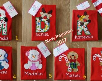 PRE-ORDER Personalized Christmas Pajamas   - Children Christmas Pjs - Kids Pajamas - Christmas Pajamas