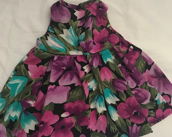 Blue and purple flower dres