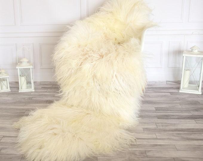 Double Icelandic  Sheepskin Rug | Long rug | Shaggy Rug | Chair Cover | Runner Rug | Brown Rug | Carpet | Ivoy Sheepskin
