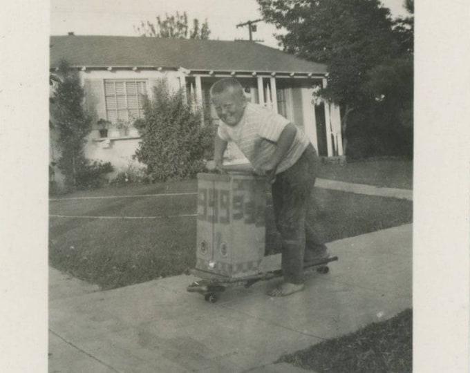 Vintage Snapshot Photo: Jimmy, August 1948 [82652]