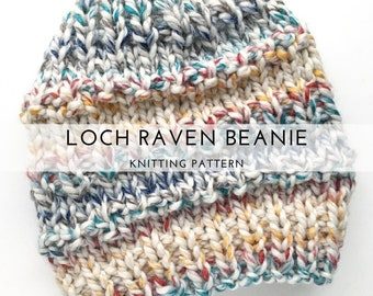 Loch Raven Beanie Knitting Pattern / Knitting Pattern / Knit Beanie Pattern / Beanie Pattern  / Knit Pattern / Cozy Knits  / Winter Beanie
