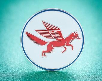 Fox Wings enamel Pin brooch